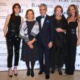 Charlotte Gainsbourg, Dominique Senequier, Marie Monique Steckel, Charles et Clo Cohen l ors de la soirée  Trophée des Arts Gala organisée par la  French Institute Alliance Française (FIAF) au Plaza Hotel à New York le 4 novembre 2019.