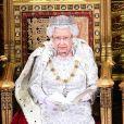 La reine Elisabeth II d'Angleterre - La famille royale d'Angleterre lors de l'ouverture du Parlement au palais de Westminster à Londres. Le 14 octobre 2019.