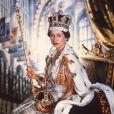 Elizabeth II, couronnée reine d'Angleterre en 1953.