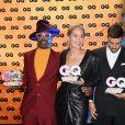 """Billy Porter, Sharon Stone, Mariano Di Vaio et Lewis Hamilton à la soirée des """"GQ Men of the Year Awards"""" à l'Opéra-Comique de Berlin, le 7 novembre 2019."""
