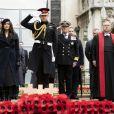 Meghan Markle et le prince Harry assistent au 'Remembrance Day', une cérémonie d'hommage à tous ceux qui se sont battus pour la Grande-Bretagne, à Westminster Abbey, le 7 novembre 2019.