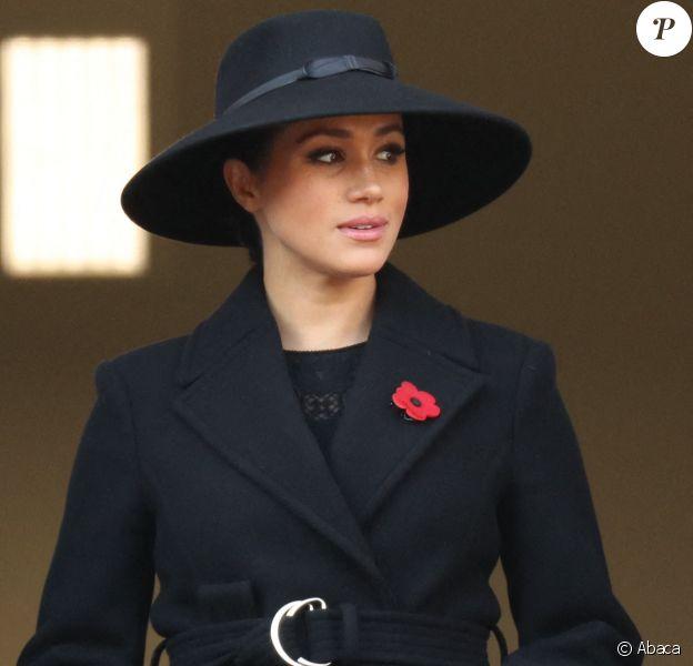 Meghan Markle - La famille royale réunie pour le Remembrance Sunday Service, au Cénotaphe de Londres, le 10 novembre 2019.