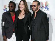 Carla Bruni très décontractée avec Will.I.Am et Dave Stewart : une chanteuse... ravissante et ravie !