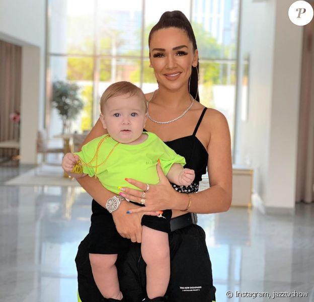 Jazz et Cayden, son fils, sur Instagram, le 22 octobre 2019