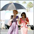 Eva Longoria et Felicity Huffman sur le tournage de Desperate Housewives