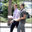 Kyle MacLachlan et Ricardo Chavira sur le tournage de Desperate Housewives