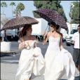 Teri Hatcher et Dana Delany sur le tournage de Desperate Housewives
