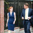 Marcia Cross et Doug Savant sur le tournage de Desperate Housewives