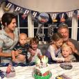 Hilaria Baldwin, Alec Baldwin et leurs quatre enfants Carmen, Rafael, Leonardo et Romeo. Septembre 2019.