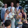 Charles et Lisa Windsor (les parents de Devon) avec leur fille Alex - Mariage de Devon Windsor et Johnny Dex à Saint-Barthélemy, le 16 novembre 2019.