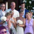 La famille de Devon Windsor assiste au mariage du mannequin et de Johnny Dex à Saint-Barthélemy, le 16 novembre 2019.