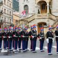La famille princière de Monaco arrive à la cathédrale Notre-Dame-Immaculée lors de la fête Nationale monégasque à Monaco le 19 novembre 2019. © Dominique Jacovides/Bestimage
