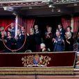Le prince William, duc de Cambridge, et Catherine (Kate) Middleton, duchesse de Cambridge, le prince Edward, comte de Wessex, Sophie Rhys-Jones, comtesse de Wessex, le prince Richard, duc de Gloucester, Birgitte Eva van Deurs, duchesse de Gloucester, la reine Elisabeth II d'Angleterre, Peter Phillips, la princesse Anne, le prince Charles, prince de Galles, et Camilla Parker Bowles, duchesse de Cornouailles, le prince Andrew, duc d'York, Boris Johnson, Premier ministre et sa compagne Carrie Symonds, le prince Harry, duc de Sussex, et Meghan Markle, duchesse de Sussex - La famille royale assiste au Royal British Legion Festival of Remembrance au Royal Albert Hall à Kensington, Londres, le 9 novembre 2019.