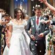 Louis Ducruet et Marie Chevallier se sont mariés en grande pompe à Monaco, le 27 juillet 2019. La mariée a porté trois tenues, dont deux signées Rosa Clara.