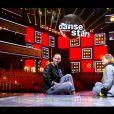 """Sami El Gueddari et Fauve Hautot lors de la finale de """"Danse avec les stars"""" en direct sur TF1, le 23 novembre 2019."""
