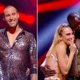 """Les quatre finalistes en attente du résultat, lors de la finale de """"Danse avec les stars"""" en direct sur TF1, le 23 novembre 2019."""