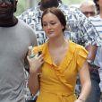 Leighton Meester en plein tournage de la troisième saison de Gossip Girl à New York