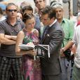 Leighton Meester et Ed Westwick en plein tournage de la troisième saison de Gossip Girl à New York