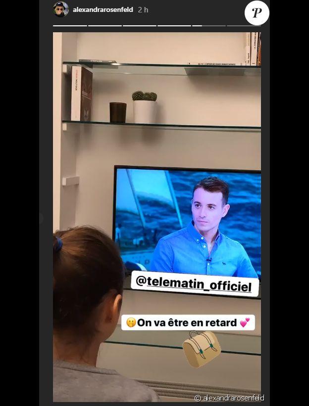 Alexandra Rosenfeld et sa fille Ava soutiennent Hugo Clément - Story Instagram, 26 novembre 2019