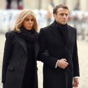 Emmanuel et Brigitte Macron recueillis pour les soldats morts au Mali