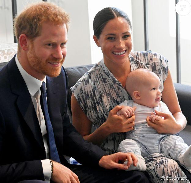 Le prince Harry, duc de Sussex, et Meghan Markle, duchesse de Sussex, avec leur fils Archie ont rencontré l'archevêque Desmond Tutu et sa femme à Cape Town, Afrique du Sud. Le 25 septembre 2019