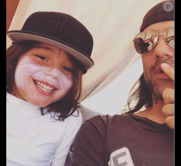 Criss Angel et son fils Johnny le 12 novembre 2019 sur Instagram.