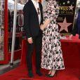Anne Hathaway et son mari Adam Shulman - Anne Hathaway reçoit son étoile sur le Walk Of Fame dans le quartier de Hollywood à Los Angeles, le 9 mai 2019