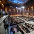 Réception de la cérémonie annuelle du Prix Nobel à l'hôtel de ville de Stockholm, le 10 décembre 2019.