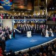 """Cérémonie annuelle du Prix Nobel au """"Stockholm Concert Hall"""", le 10 décembre 2019."""