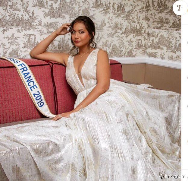 Vaimalama Chaves, Miss France 2019, le 19 septembre 2019 sur Instagram.