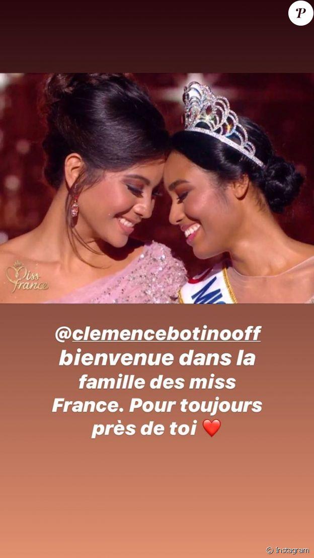 Le message de Vaimalama Chaves à Miss France 2020 après son élection du 14 décembre 2019.