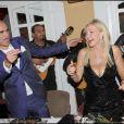 Pascal Nègre et Monica Bacardi à la soirée Bacardi, à Saint-Tropez. 26/07/09