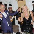 Pascal Nègre, Monica Bacardi et Orlando à la soirée Bacardi, à Saint-Tropez. 26/07/09