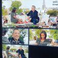 """Gad Elmaleh et Karine Le Marchand lors du tournage de l'émission """"Une ambition intime"""" diffusée le 16 décembre 2019 sur M6."""