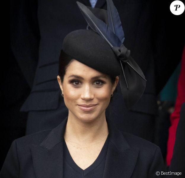 Kate Middleton, duchesse de Cambridge, Meghan Markle, duchesse de Sussex, le prince Harry, duc de Sussex - La famille royale assiste à la messe de Noël à Sandringham le 25 décembre 2018.