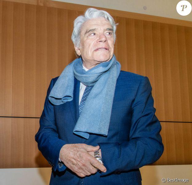 Bernard Tapie - Affaire Tapie : plaidoirie des avocats de la défense, Tribunal de Paris , 11ème chambre correctionnelle, Paris, le 4 avril 2019.  ©Pierre Perusseau / Bestimage