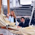 Adriana Karembeu et son mari André (Aram) Ohanian sont au Yacht Club de Monaco dans le cadre de la 12 ème Monaco Classic Week à Monaco le 10 septembre 2015.