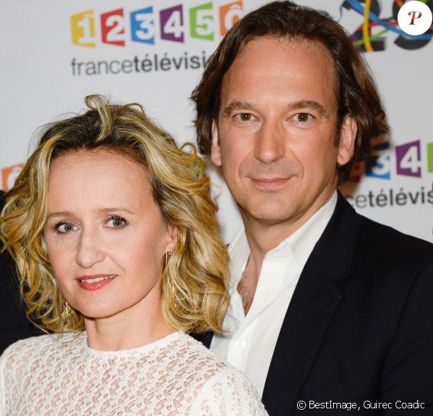 Caroline Roux et François Busnel au photocall de France Télévisions, pour la présentation de la nouvelle dynamique 2016-2017, à Paris, le 29 juin 2016. © Guirec Coadic/Bestimage29/06/2016 - Paris