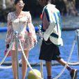 Kylie Jenner, Travis Scott - Le clan Jenner arrive à l'Hôtel du Cap-Eden-Roc pour un déjeuner en famille au Cap d'Antibes le 14 août 2019.