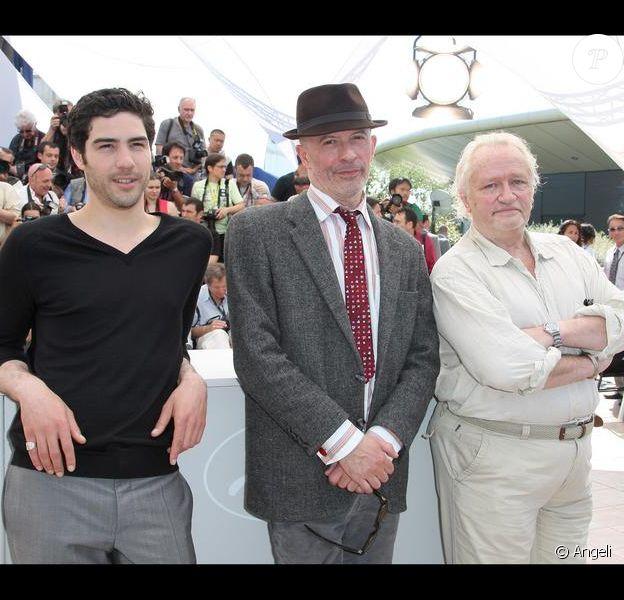 Tahar Rahim, Jacques Audiard et Niels Arestrup à Cannes en 2009