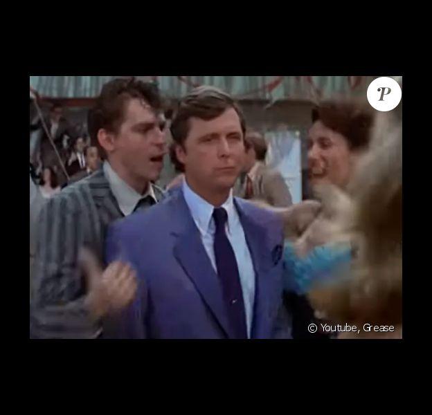 """L'acteur Edd Byrnes interprète Vince Fontaine dans """"Grease""""."""