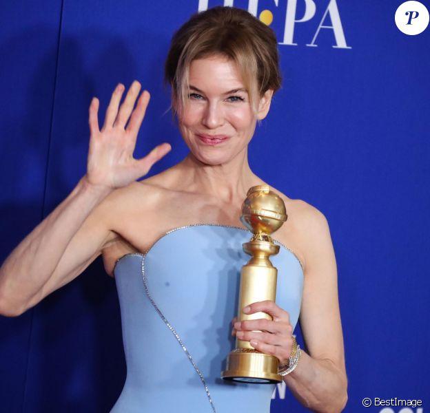 Renée Zellweger lors de la Press Room de la 77ème cérémonie annuelle des Golden Globe Awards au Beverly Hilton Hotel à Los Angeles le 5 janvier 2020.