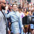 Millie Bobby Brown à la sortie de sa boutique éphémère Florence by Mills à New York, le 25 août 2019