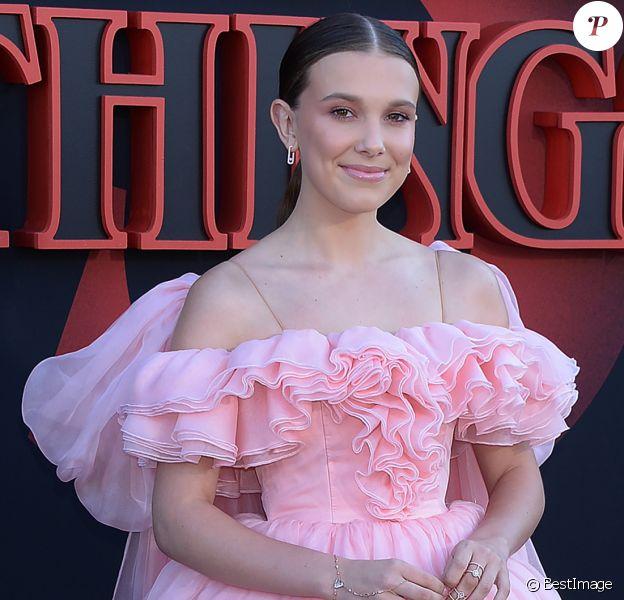 """Millie Bobby Brown à la première de la série Netflix """"Stranger Things - Saison 3"""" à Los Angeles, le 28 juin 2019."""