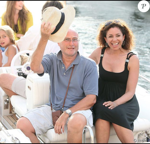 Phil Collins et sa famille à Saint-Tropez le 2 août 2009