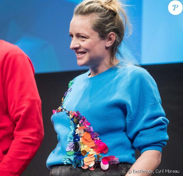 Charlie Bruneau, enceinte, lors du 23e Festival International de l'Alpe d'Huez. Le 17 janvier 2020. © Cyril Moreau / Bestimage