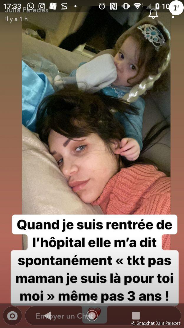 Julia Paredes s'exprime sur Snapchat, le 20 janvier 2020