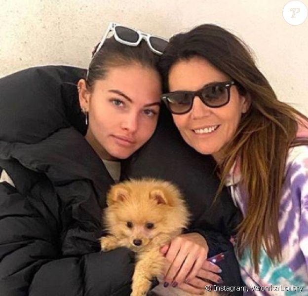 Veronika Loubry et sa fille Thylane Blondeau. Janvier 2020.