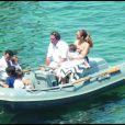 Jennifer Lopez, son mari Marc Anthony et leurs enfant Max et Emme en vacances à Saint-Tropez le 5 aout 2009