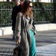 Victoria Beckham et son mari David ont quitté leur hôtel à Paris, pour se rendre à la Gare du Nord pour prendre l'Eurostar. Le 18 janvier 2020 Paris, FRANCE